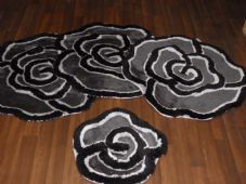ROMANY GYPSY WASHABLES GERMAN STYLE TRAVELLER THICK QUALITY SETS OF 4 MATS ROSES
